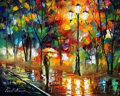 Walk in the park - Leonid Afremov  Love this artist! This particular painting evokes strong memories for me :)