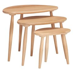 Buy ercol for John Lewis Shalstone Nest of Three Tables Online at johnlewis.com