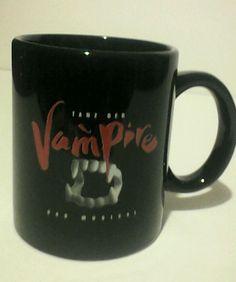 Tanz Der Vampire Das Musical black coffee mug by artist Ben Elton RARE