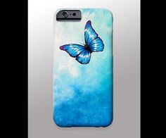 Butterfly Painting iPhone 4 4s 5 5s 5c 6 Case, Samsung Galaxy Hard Plastic Cover, Nature Art, Butterfly Art,Butterfly Phone Case