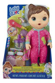 Girls Baby Alive Mix My Medicine - Baby Dinosaur Baby Alive Doll Clothes, Baby Alive Dolls, Toddler Toys, Baby Toys, Kids Toys, Muñeca Baby Alive, Baby Doll Nursery, Muppet Babies, Baby Dinosaurs