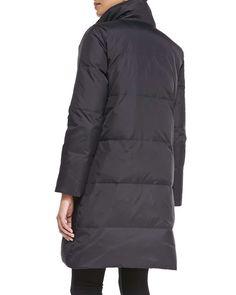 Reversible Down Puffer Coat, Black