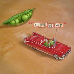 Yippee Ki Yay by Jason Kotecki #cars #peas #escape #cadillac