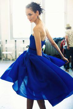 cobalt dress- jason wu.