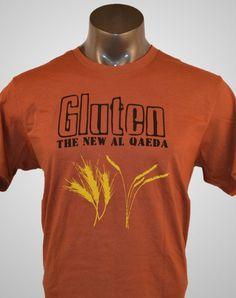 Funny TShirt:  Mens T-Shirt...Gluten Free Shirt on Etsy, $18.00