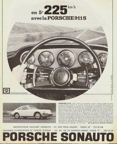 Publicité Sonauto d'époque ...225 km/h..! #porsche