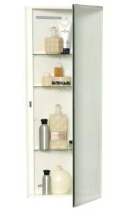 Zenith Products MB36CVBB Designer Series 14 x 36 Over the Mirror, Beveled Mirror, Corner Medicine Cabinet1a