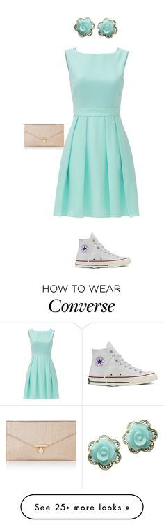 """""""Formal, but casual."""" by umanamelb on Polyvore featuring Michael Valitutti, Kate Spade, Converse and Accessorize"""