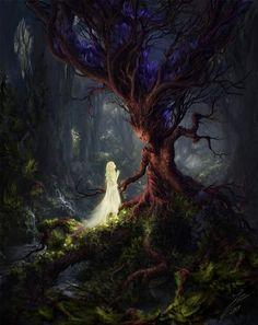 🎨The Sleeping Green - Öinen-Matkaaja (Nightly Traveler) 🖌Artist - Julian Bauer 🔥Tag be featured! Artwork Fantasy, Dark Fantasy Art, Fantasy World, Fantasy Love, Fantasy Forest, Magical Creatures, Fantasy Creatures, Image Zen, Fantasy Kunst