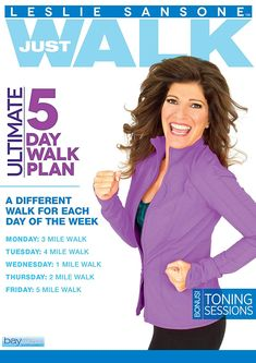 Leslie Sansone Ultimate 5 Day Walk Plan is Leslie Sansone's latest full week whole body conditioning system where you will be trained to get fit in just. Workout Dvds, Travel Workout, Body Workout At Home, At Home Workouts, Yoga Workouts, Leslie Sansone, Full Body Stretch, Healthy Body Images