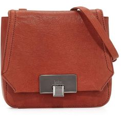 Westport Corporation Filmore Mini Leather Crossbody Bag ($68) ❤ liked on Polyvore featuring bags, handbags, shoulder bags, rust, red leather purse, mini crossbody purse, red leather handbags, red shoulder bag and leather handbags