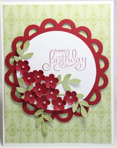 [pretty] Happy Birthday Flower Bouquet Card Stampin Up Handmade. $2.50, via Etsy.