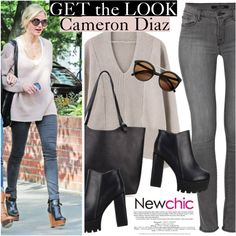 NewChic.com by vict0ria on Polyvore featuring J Brand