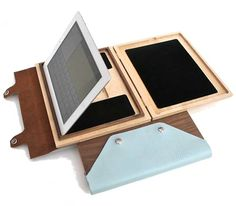 Substrata iPad case of wood and leather. Found via Design Sponge