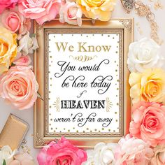 60% OFF SALE Wedding Heaven Sign 5x7 by DreamBigPrintables