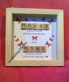 Scrabble Frame by ScrabblingFrames on Etsy