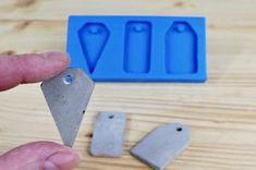 Concrete jewellery mold, Concrete pendant mold, Geometric concrete mould, Silicone concrete mold, Small casting mold, Concrete shapes mold