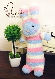 Mali Sock Doll Sock Rabbit Alice in Wonderland by malidolls, $42.95