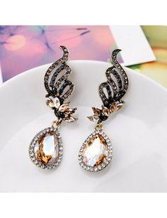 New Style Elegant Rhinestone Embellished Wings-shaped Earrings YW15041603http://www.clothing-dropship.com