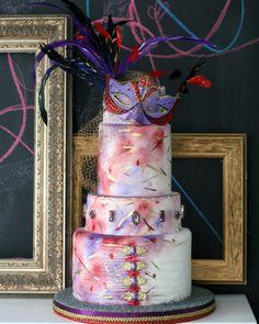 Cirque de Soleil Bridal Shower Cake