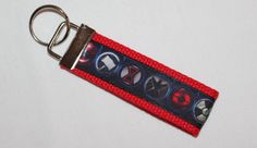 Marvel Avengers Inspired Keychain Key Fob by RedShirtCreations