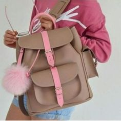 Leather backpacks have grown into timeless pieces with myriad of in-vogue styles to be dressed up and down. Grafea backpack purses are one option for leather Grafea Backpack, Backpack Purse, Leather Backpack, Stylish Backpacks, Cute Backpacks, Fashion Bags, Fashion Backpack, Stylish School Bags, Cute Purses