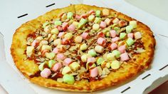 Limited time Caramel Marshmallow Pizza in Japan by Pizza Hut