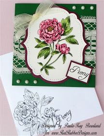 Red Rubber Designs Lovely Peony Stamp Set