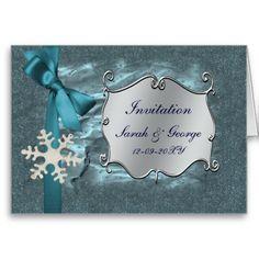 wedding cards, winter | blue winter wedding Invitation cards from Zazzle.com