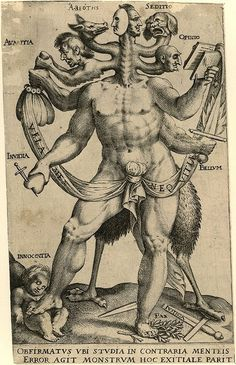 Allegory of the Five Obstinate Monsters 1575 - 1618 Anon by Nina Maltese