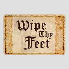 it seems fitting for a theatre apartment... Wipe Thy Feet Cushion Floor Mat