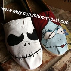 Women's TOMS Jack And Sally Shoes by RubiiShoos on Etsy