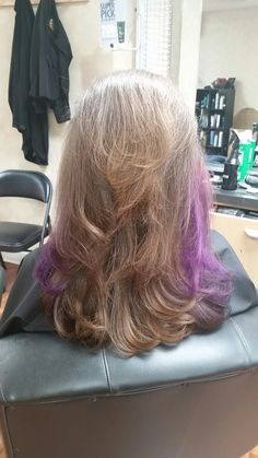 Long layer with purple umbre  #Supercuts  101 SUMMER  STREET