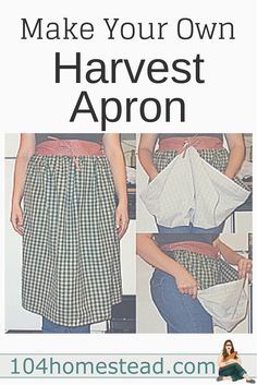 A harvest apron is great for gathering up the produce you collect in your garden. I'll show you how to make one with just simple sewing. Add egg pockets to collect eggs.
