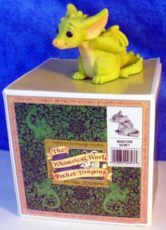 Whimsical World of Pocket Dragons WHATCHA DOIN'? 1995  Real Musgrave E10
