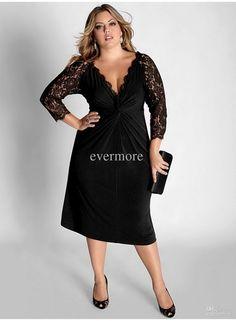 ecd3e4ee9 Plus size cocktail dresses with sleeves Vestido Manga Longa Festa, Vestido  De Festa Longo,