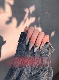 Edgy Nails, Aycrlic Nails, Grunge Nails, Oval Nails, Stylish Nails, Cute Nails, Manicure, Coffin Nails, Yellow Nails
