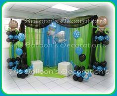 decoracion baby shower niño verde - Buscar con Google