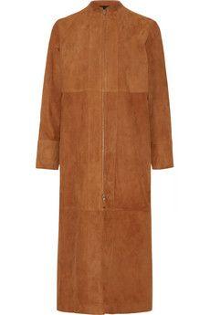 The Row Luri paneled suede coat | NET-A-PORTER