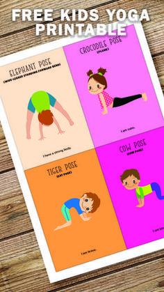 Kids Yoga Poses, Yoga For Kids, Exercise For Kids, Preschool Yoga, Preschool Classroom, Kindergarten, Gross Motor Activities, Toddler Activities, Animal Activities For Kids