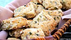 rustic bacon and cheese scones.