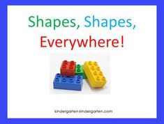 Shapes...Shapes...Everywhere!
