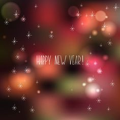 Vector hand-drawn illustration Happy new year.  editable letters