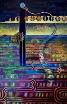 Regan Balzer Creation Myth, Maori Art, Pattern And Decoration, Trippy, Art Inspo, Colours, Artwork, Painting, Inspiration