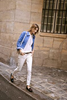 New ways to wear your white jeans - click to see them all!