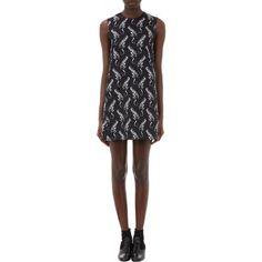 Saint Laurent Revolver-Print Lined Crepe Dress at Barneys.com