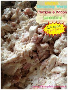 slimming world chicken & bacon sandwich mixture