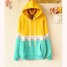 Buy 'Ringnor – Color-Block Hooded Print Pullover' with Free International Shipping at YesStyle.com. Browse and shop for thousands of Asian fashion items from China and more!