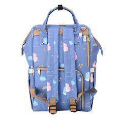 Sunveno - Diaper Bags - Unicorn Blue  Product details For the Stylish and Traveller Mom's, this Unicorn Diaper Bag is the best. This Sunveno diaper bag comes with beautiful unicorn print and a lovely subtle blue color to make this extremely spacious bag, turn heads around. The wide zipper opening with metal support and beautifully crafted golden zippers give this bag a royal look. Despite all the space and accessories, this a light weight bag weighing only 750 gms, Not even a Kg! The unique feat Sunveno Diaper Bag, Trendy Diaper Bags, Weight Bags, Beautiful Unicorn, Royal Look, Unicorn Print, Baby Items, Zippers, Mom