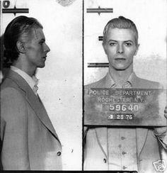David Bowie's Mugshot